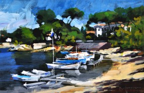 36. Jack Morrocco_Port d'Oloviers, Cap D'Antibes_8x12_Acrylic