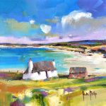 Kate Philp_Little Thatched Cottage, Uist_Oils_8x8