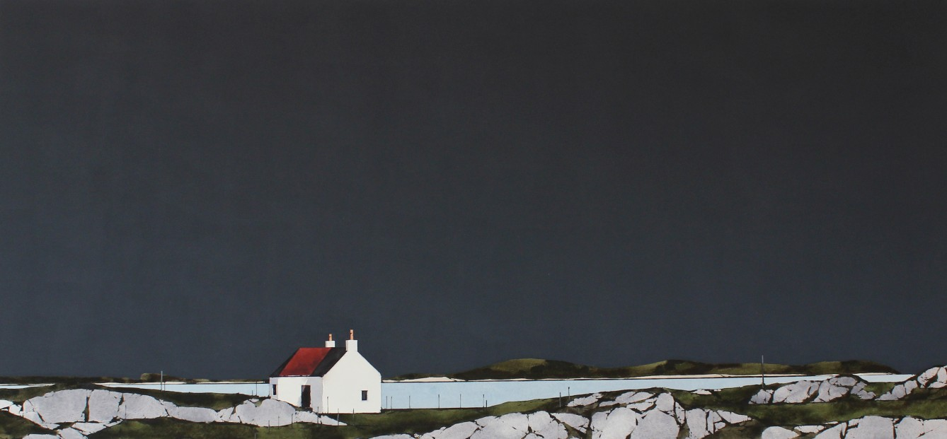 P7_Ron Lawson_EAS181_L5_Traigh Mhor Cottage, Barra_18x38.5
