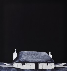 Ron Lawson_Black & White Cottage III_Trosaraidh, South Uist_EAS227_18.5x17.5