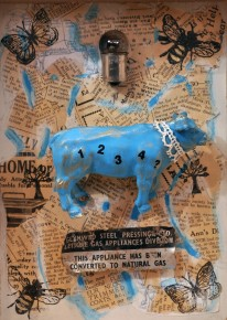 Ruby.Rae.The.Bovine.Gas.Line.Mixed.Media .Assemblage.Image Size.7x5 inches.375