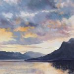 Margeret Evans_Clouds at Sunset, Kintail_18x18