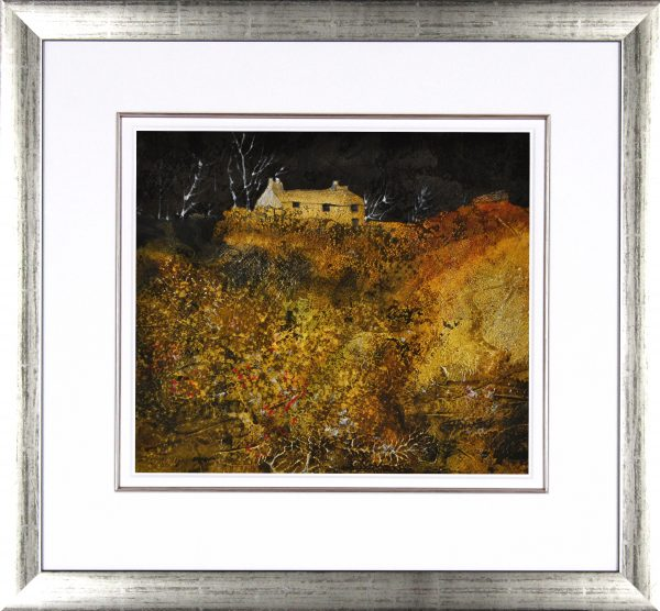 Sue Howells_Evening Glow_Original Mixed Media_21.5x20_Framed