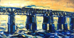 c.m.walkerMorning.Light.Railbridge.9x16inches.750