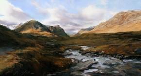13_Fiona Haldane_Down Stream(Glen Coe)_Pastel_10x18
