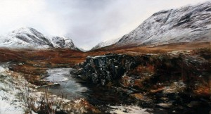 14-Fiona Haldane_Autumn To Winter, Glen Coe_Pastel_10x18