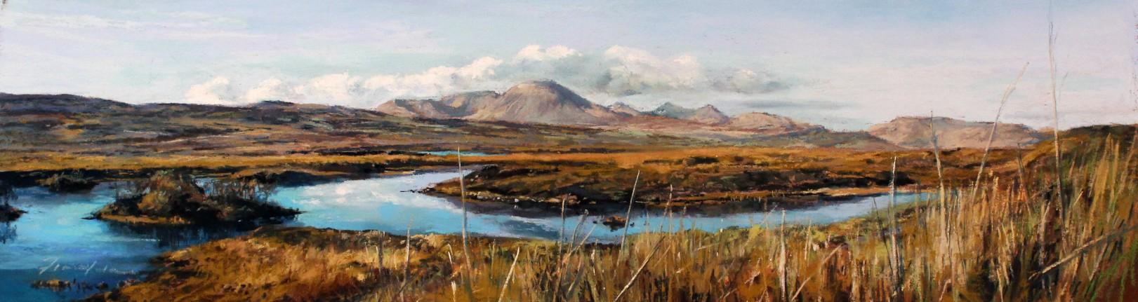 20_Fiona Haldane_Light Over The Cullins (Skye)_Pastel_6x21