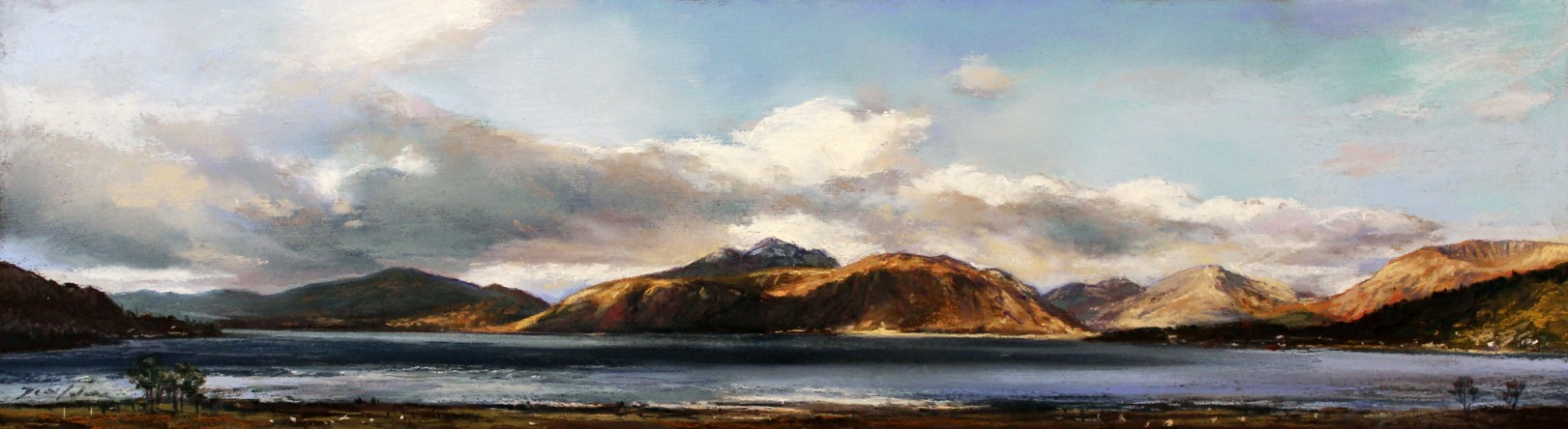 21_Fiona Haldane_The Shores OF Ballahulish_Pastel_6x21