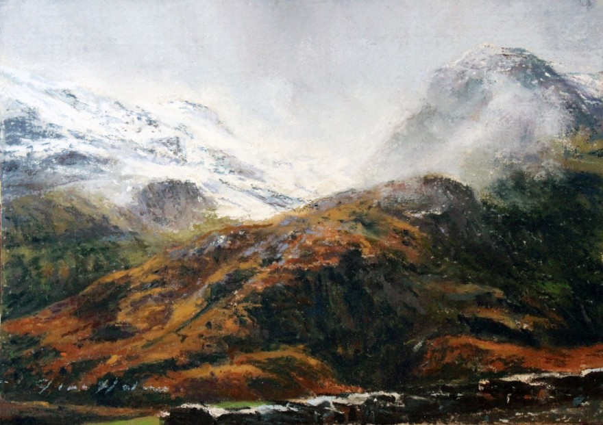 22_Fiona Haldane_An Ancient Ridge, Glen Coe_Pastel_5x7
