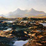 23_Fiona Haldane_November Light, Cullins,Skye_Pastel_5x7