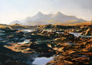 23_Fiona Haldane_November Light, Cullins,Skye_Pastel_5x7