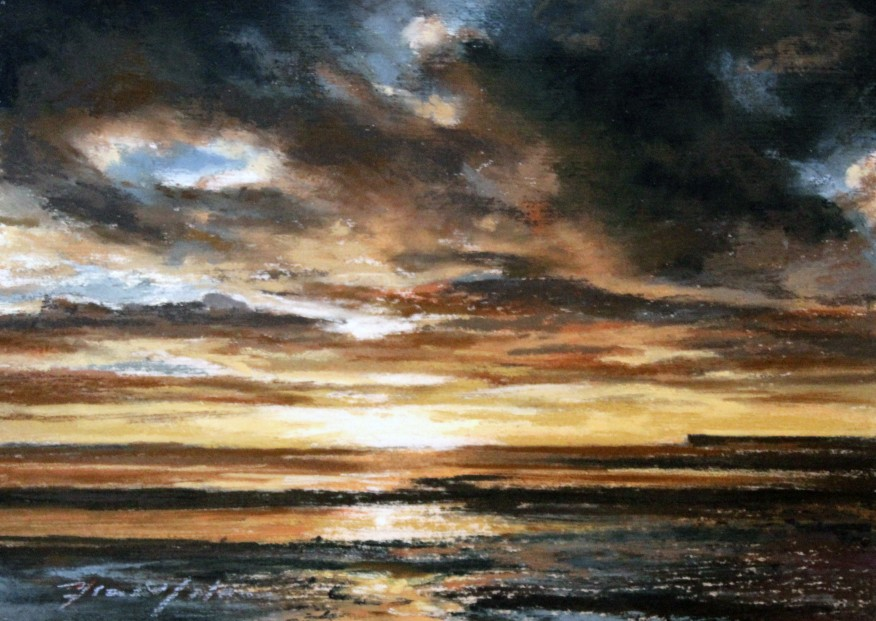 24_Fiona Haldane_Dark Morning,Tay Estuary_Pastel_5x7