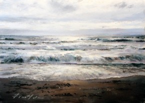 25_Fiona Haldean_Time &Tide, Mull of Kintyre_Pastel_5x7