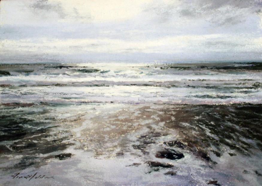 28_Fiona Haldane_Calm Waters, Mull of Kintyre_Pastels_5x7