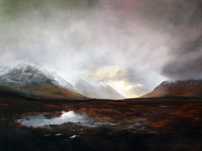 31_Fiona Haldane_The Power & The Glory, GLen Etive_Pastel_36x48