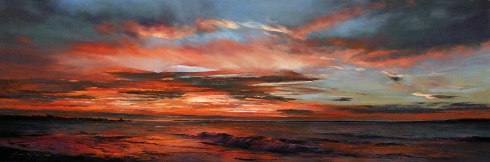 3_Fiona Haldane_Glorious Morning, Tay Estuary_Pastel_16x48