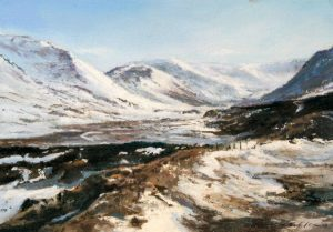 6_Fiona Haldane_The Way Home, Glen Shee_Pastel_5x7