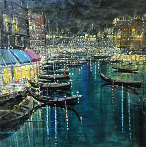 Mario Sanzone_Venice at Night_39x39_1995