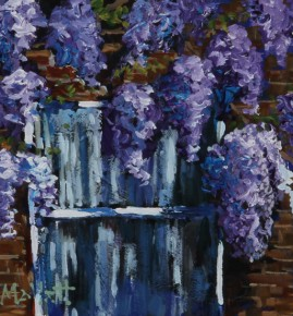 TIMMY MALLETT_ Wisteria Window_Oil on Board_10x8