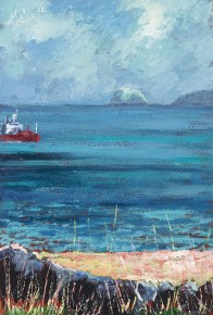 TIMMY MALLETT_Bass Rock_8X12_OIL ON BOARD