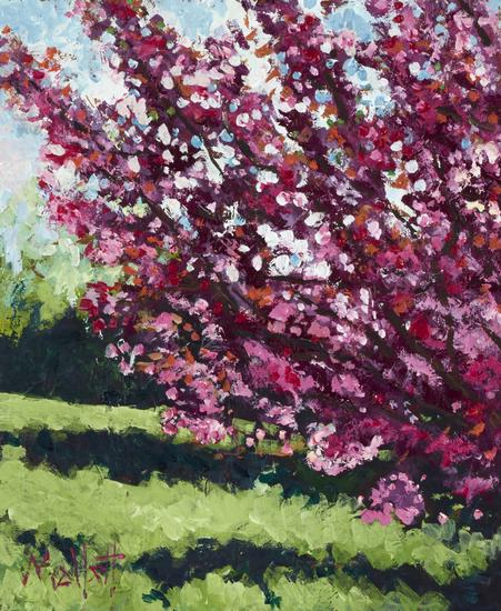 TIMMY MALLETT_Cherry Blossom III_Oil on Board_12x10