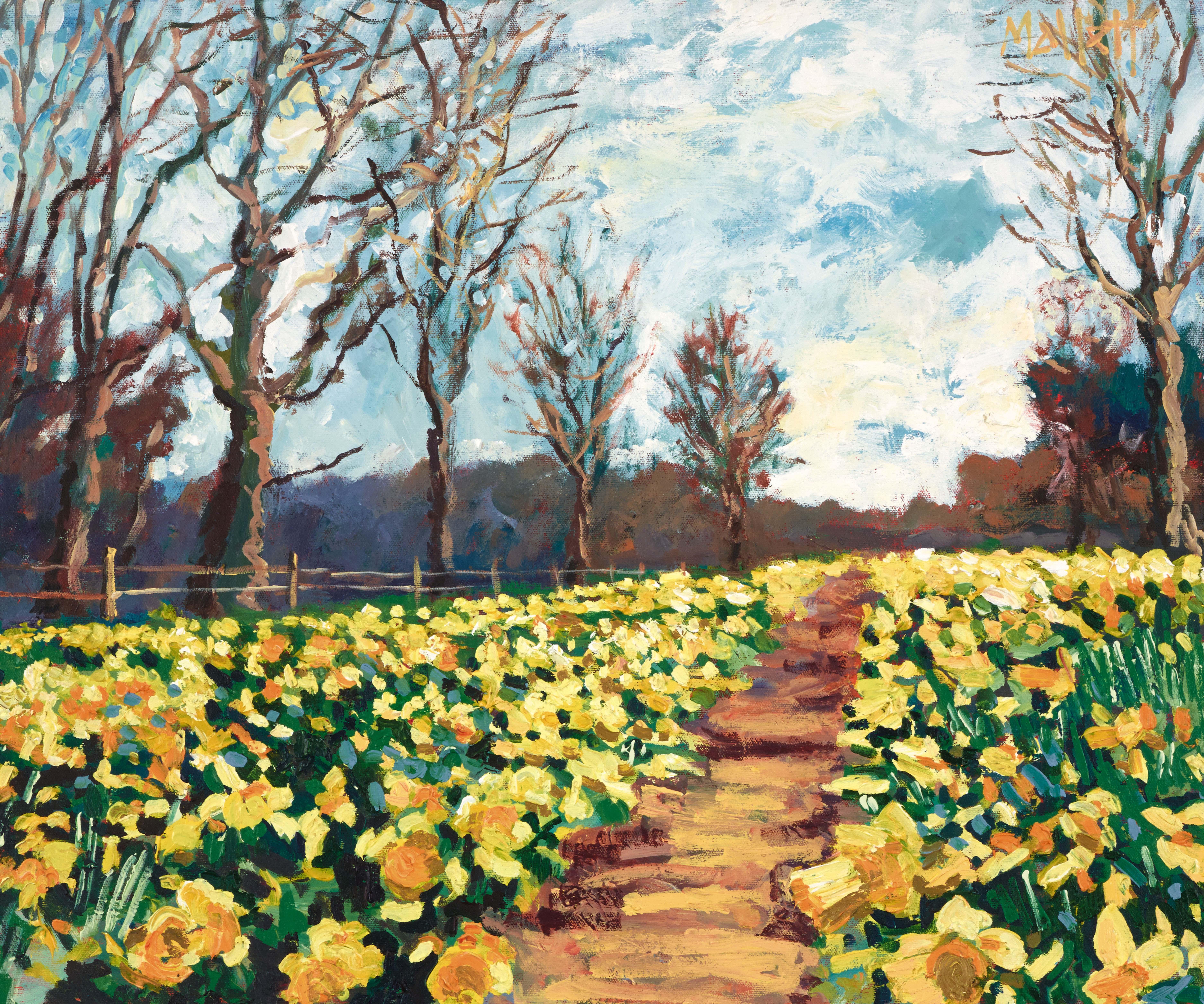 TIMMY MALLETT_Daffodil Walk_24X20_OIL ON BOARD