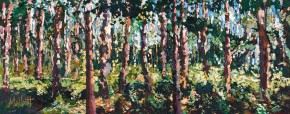 TIMMY MALLETT_Forest After the Rain_30X12_OIL ON BOARD