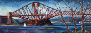 TIMMY MALLETT_Forth Rail Bridge_32X12_OIL ON BOARD