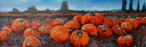 TIMMY MALLETT_Pumpkins 12x36 000760