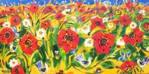 Charles Monteith Walker_582 Poppy Field  48x 24_5000