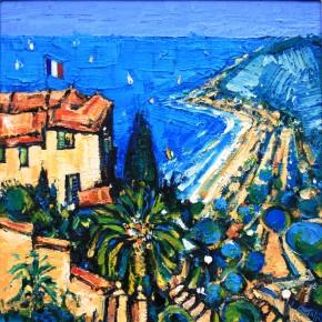 Charles Monteith Walker_653Evening Light Cote d'Azur 18x18_2250