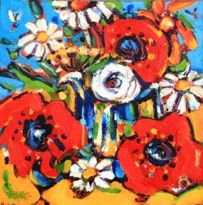 Charles Monteith Walker_723 Poppy Bouquet 12''x12''_1200