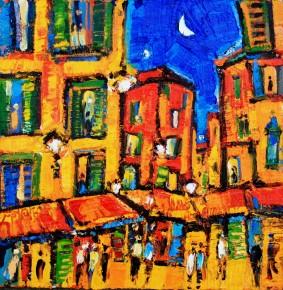Charles Monteith Walker_727 Night  in Nice 12''x12''_1200