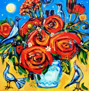 Charles Monteith Walker_730 Moonlight Bouquet 24''x24''_3500