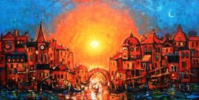 Charles Monteith Walker_763 Venice Sunset 24''x 48''_5750