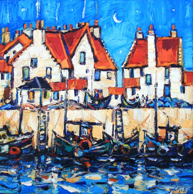 Charles Monteith Walker_764 Harbour Pittenweem  24''x24''_3500