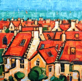 Charles Monteith Walker_766 Red Roofs Pittenweem  12''x12''_1200