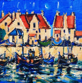Charles Monteith Walker_770 Harbour Pittenweem  12''x12''_1200