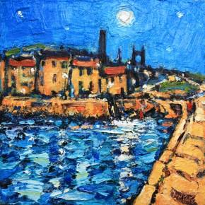 Charles Monteith Walker_772  Moonlit Harbour St Andrews 12''x12''_1200