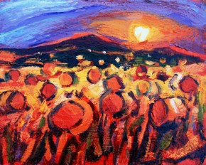 Charles Monteith Walker_774 Harvest Sunset  8''x10''_800