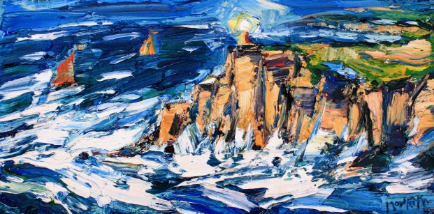 Charles Monteith Walker_777 Stormy Sea Lunan Bay  12''X 24''_2000