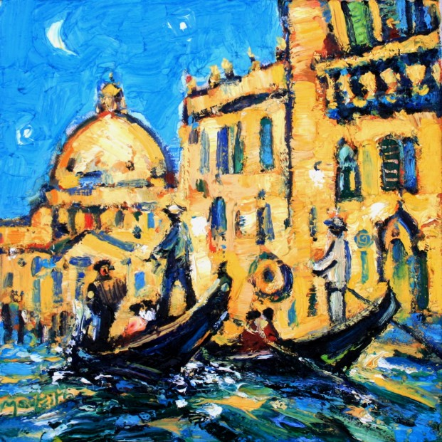 Charles Monteith Walker_778 Gondolas Grand Canal SP 12'X12''_1200