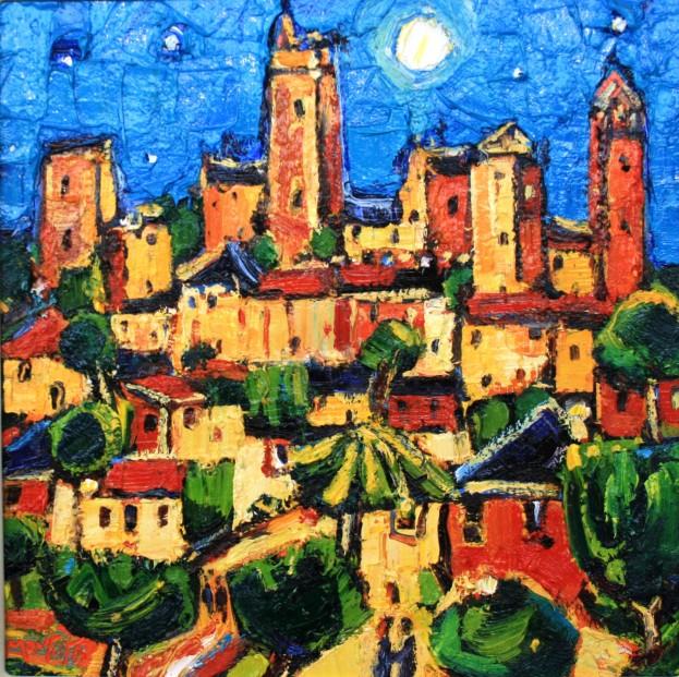 Charles Monteith Walker_785 San Gimignano 12''x12''_1200