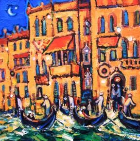 Charles Monteith Walker_787 Gondolas, Venice 18''X 18''_2250