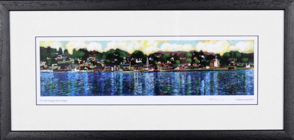 Stephen French_Broughty Ferry (Choppy)_9.5x20_Framed Print