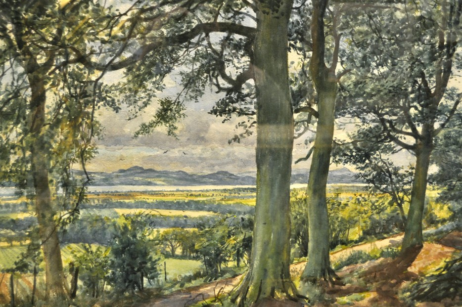 James McIntosh Patrick OBE RSA (1907-98)_Carse of Gowrie from Dron_watercolour_21x29_7995