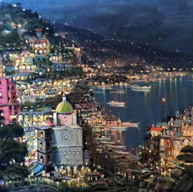 Mario Sanzone_Evening, Positano_Oils_24x24