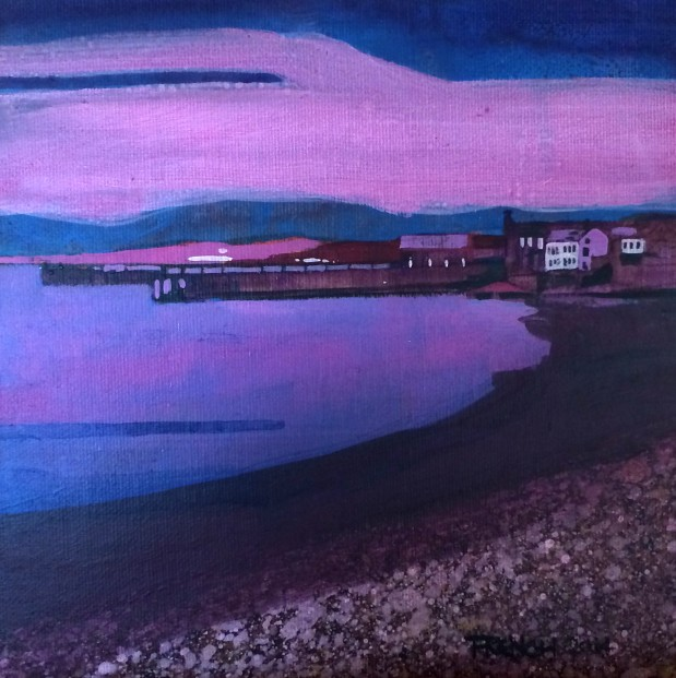 Stephen French_Beach Crescent, Broughty Ferry II _Acrylics_8x8_350