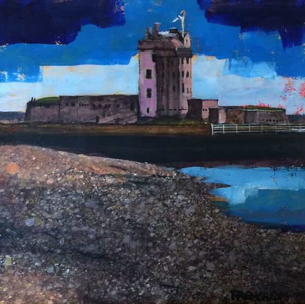 Stephen French_Broughty Castle IV_Acrylics_8x8_350