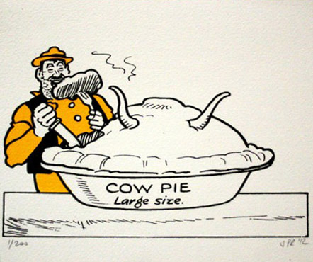 John Patrick Reynolds_Comic Art_Desperate Dan-eats-cow-pie-450x450